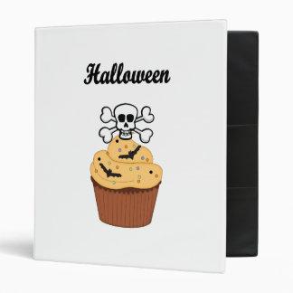 Halloween Skull and Bats 3 Ring Binder