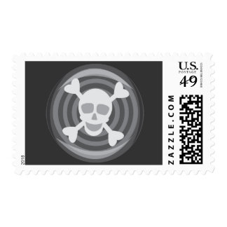 Halloween Skull and Bones Postage