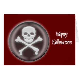 Halloween Skull and cross-bones Card