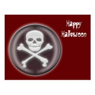 Halloween Skull and cross-bones Postcard
