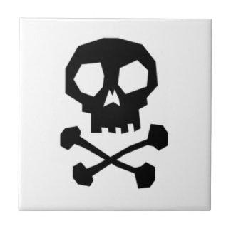 Halloween Skull and Crossbones Tiles