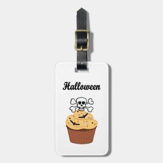 Halloween Skull and Cupcake Bats Bag Tag