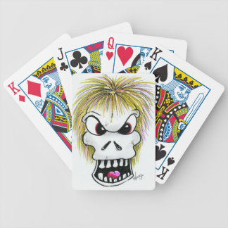 Halloween Skull and Ghost Bicycle Playing Cards