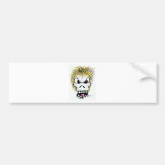 Halloween Skull and Ghost Bumper Sticker