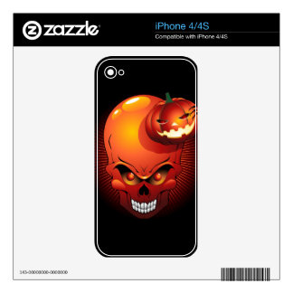 Halloween Skull and Pumpkin Phones Skins Skins For The iPhone 4S