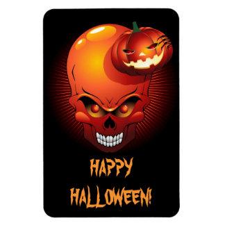 Halloween Skull and Pumpkin Premium Flexi Magnet
