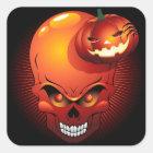Halloween Skull and Pumpkin Sticker