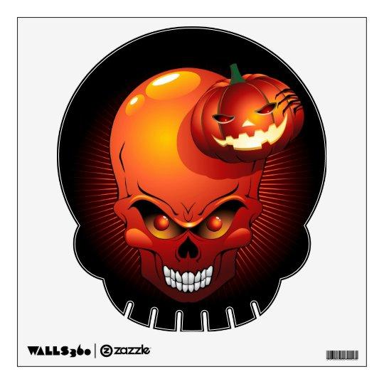 Halloween Skull and Pumpkin Wall Decals