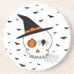 Halloween Skull & Bats Coasters