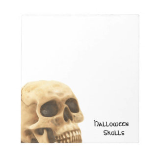 Halloween Skull Bone Notepad