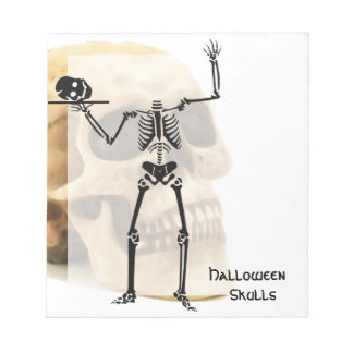Halloween Skull Bone Skeleton Notepad