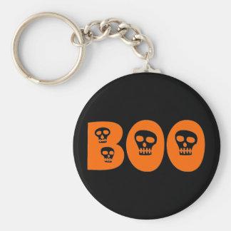"""Halloween Skull """"Boo"""" Keychains"""