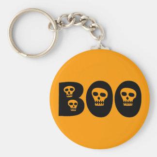 """Halloween Skull """"Boo"""" Keychain"""