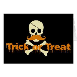halloween skull card