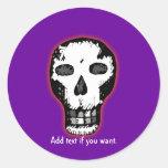 Halloween Skull Classic Round Sticker