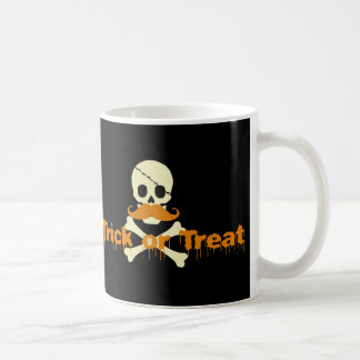 halloween skull coffee mug