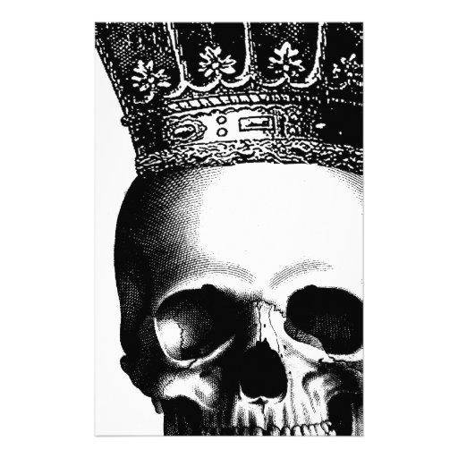 Halloween Skull Crown Royal Stationery Design Zazzle