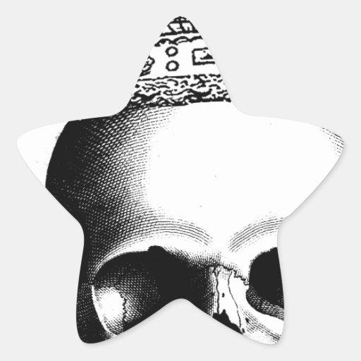 Halloween Skull Crown Royal Stickers