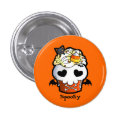 Halloween Skull Cupcake Buttons