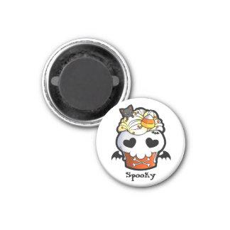 Halloween Skull Cupcake Magnet