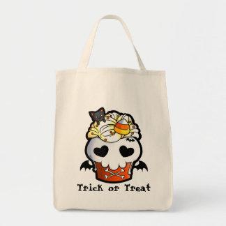 Halloween Skull Cupcake Tote Bag