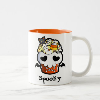 Halloween Skull Cupcake Two-Tone Coffee Mug