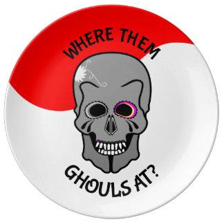 Halloween Skull Dinner Plate