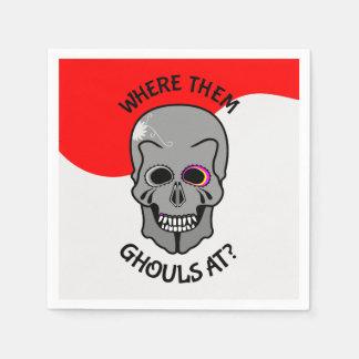 Halloween Skull Disposable Napkin