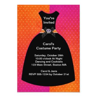 Halloween Skull Dress Invitation Template