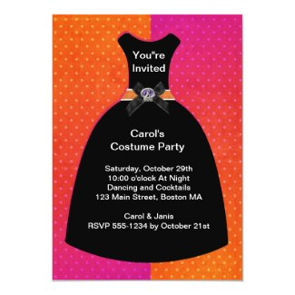 Halloween Skull Dress Invitation Template