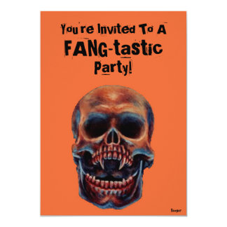 Halloween- Skull FANG-tastic Party Card