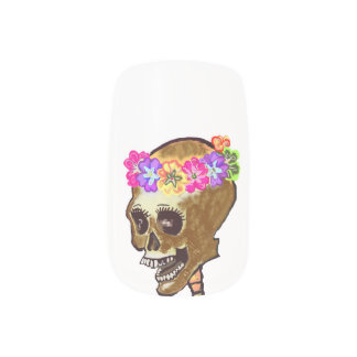 Halloween Skull Fingernail Art Minx® Nail Wraps