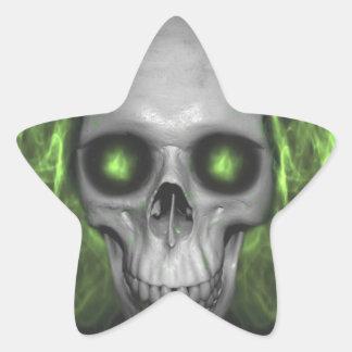 halloween skull forever reading and learning star sticker