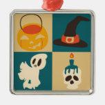 Halloween Skull Ghost Hat Pumpkin Pattern Christmas Ornaments