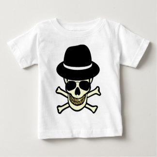 Halloween Skull Hipster Baby T-Shirt