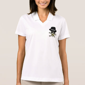 Halloween Skull Hipster Polo Shirts