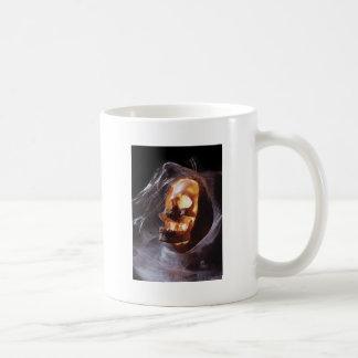 Halloween - skull in pumpkin coffee mug