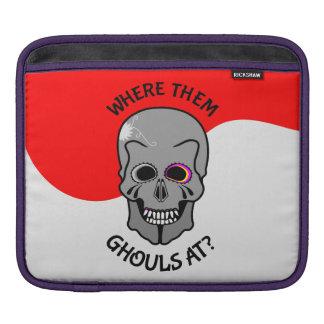 Halloween Skull iPad Sleeve