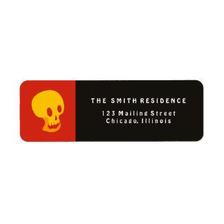Halloween Skull Label