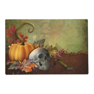 Halloween Skull Laminated Placemat