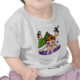 Halloween Skull Montage Baby T-Shirt