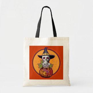 Halloween Skull 'n Pumpkin Tote Bag