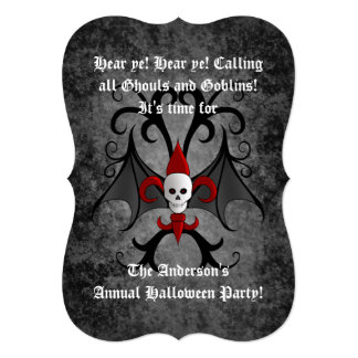 Halloween skull party card