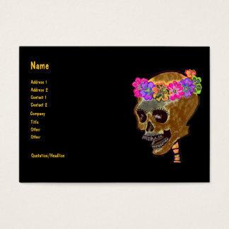 Halloween Skull Party Planner Business Card