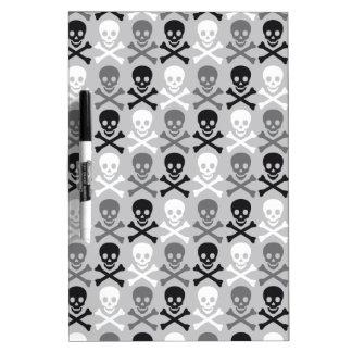 Halloween Skull pattern with crossbones Dry-Erase Board