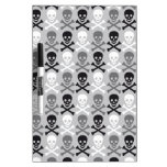 Halloween Skull pattern with crossbones Dry-Erase Whiteboards