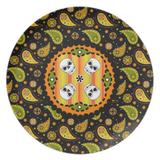 Halloween Skull Plate