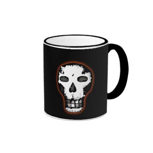 Halloween Skull Ringer Coffee Mug