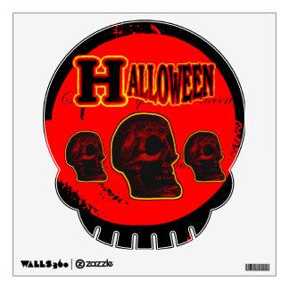 Halloween Skull! Style 2 Wall Decal