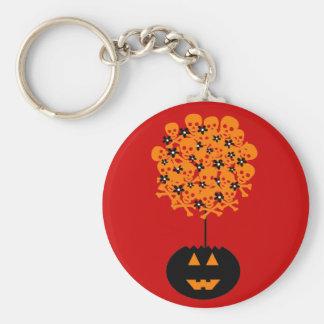 Halloween Skull Topiary Keychain